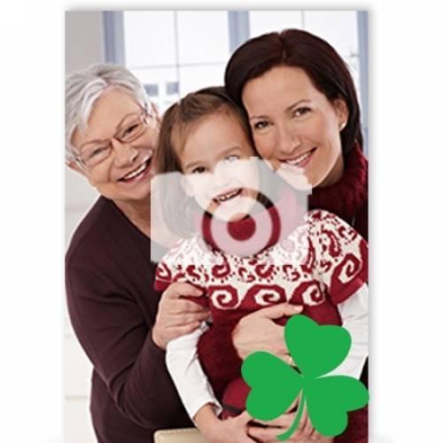 Photo Shamrock St Patrick's Day Card