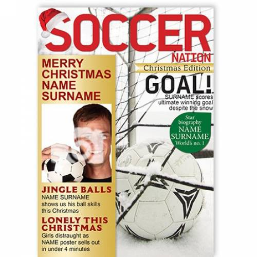 Soccer Nation Magazine Merry Christmas Card