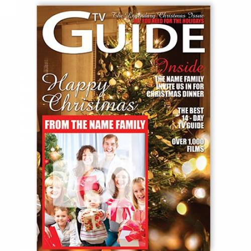 TV Guide Happy Christmas From Family Christmas Card