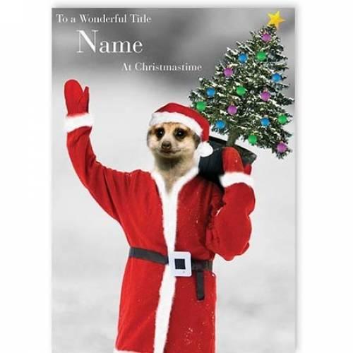 Meerkat Wonderful Christmas Card