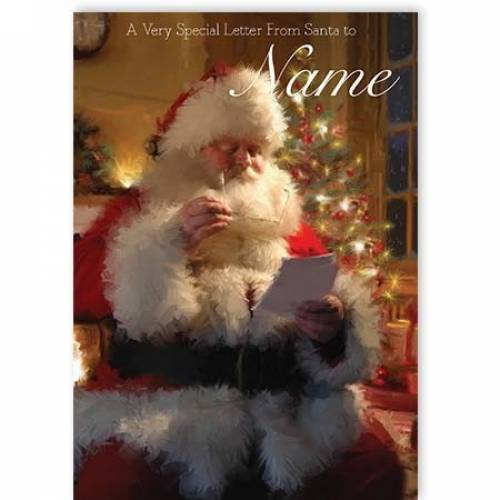 Special Letter From Santa Christmas Card