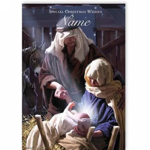 Nativity Scene Jesus Special Christmas Wishes Card
