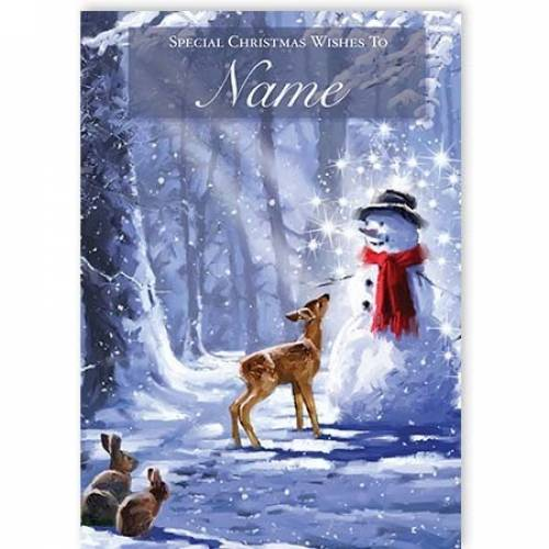 Reindeer & Snowman Special Christmas Wishes Card