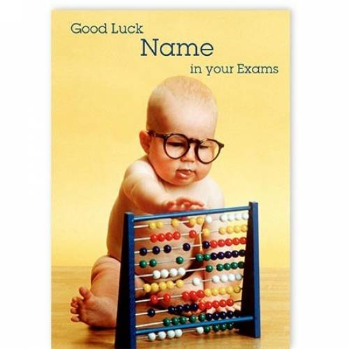 Baby Abacus Good Luck In Your Exams Card