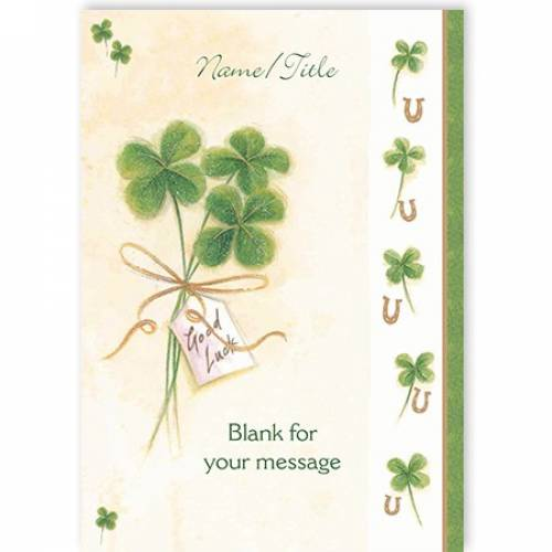 Shamrocks Any Message Any Occasion Card