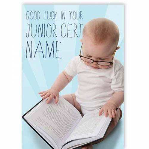Good Luck In Junior Cert Card