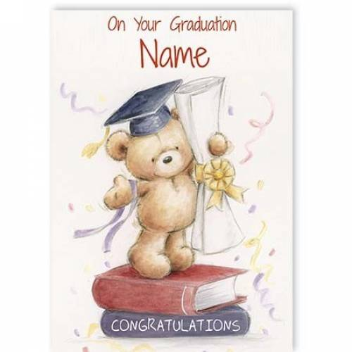 Teddy Diploma Congratulations Of Your Graduation Card
