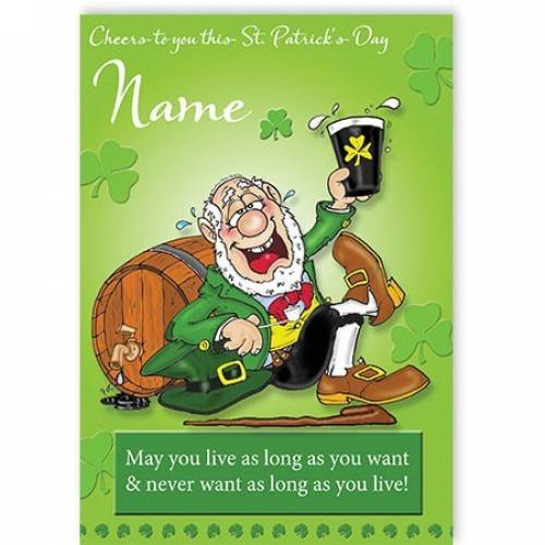 Cheers To You This St Patricks Day Card