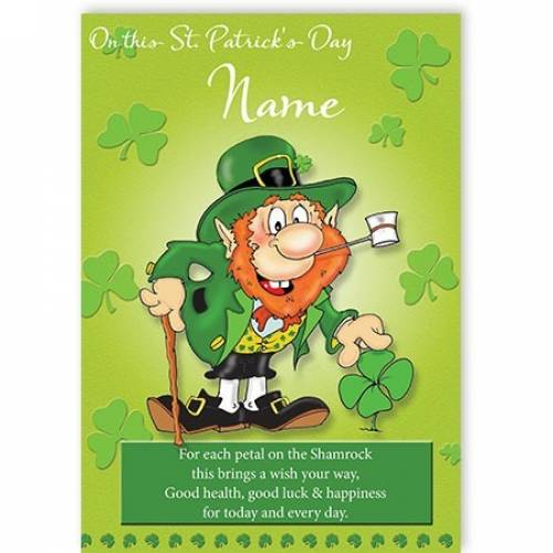 Good Health, Luck & Happiness St Patrick's Day Card