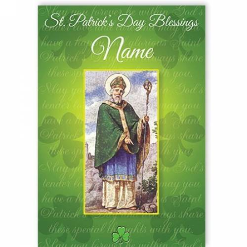 St Patrick's Day Blessings Card