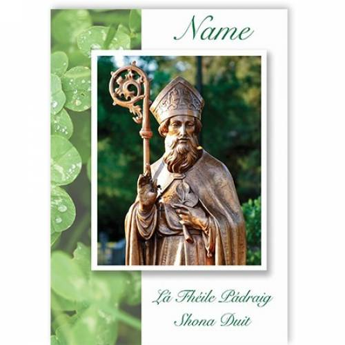 Statue St Patrick's Day Card