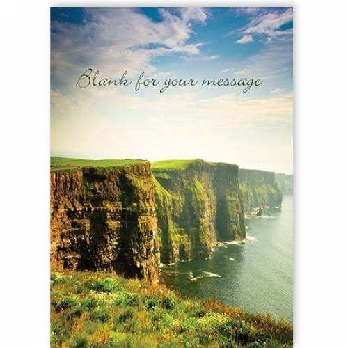 Any Message Any Occasion Irish Cliff Scenic Card