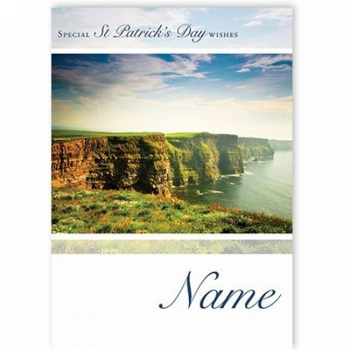 St Patrick's Day Irish Cliff Scenic Card