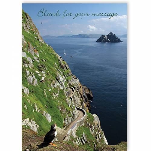 Any Message Irish Cliff Road Island Scenic Card