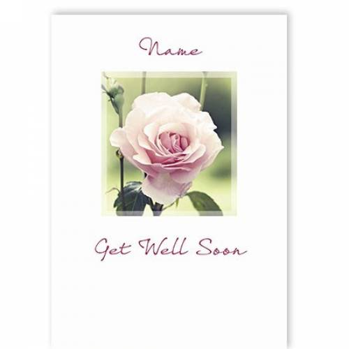 Rose Get Well Soon Card
