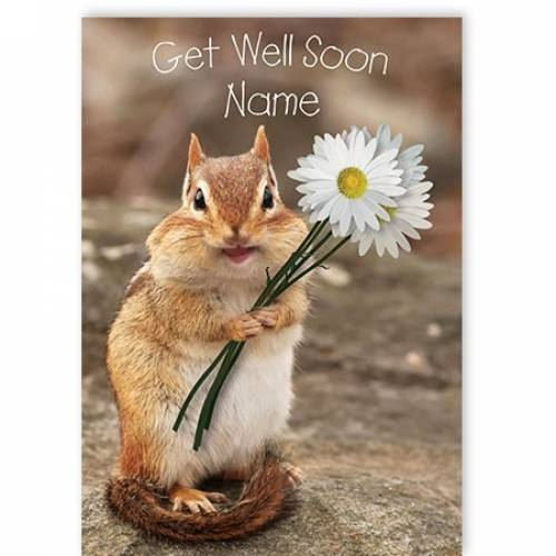 Squirrel Get Well Soon Card