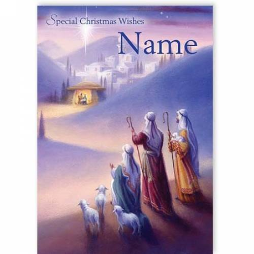 Special Wishes Nativity Christmas Card