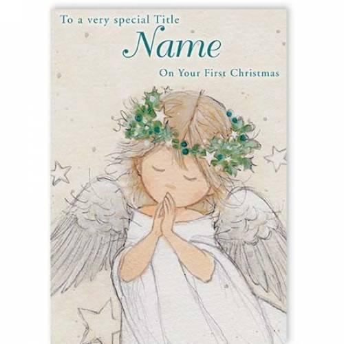 On Your First Christmas Angel Christmas Card