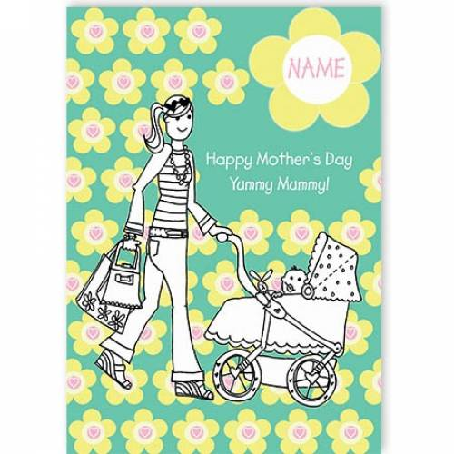 Yummy Mummy Mother's Day Card