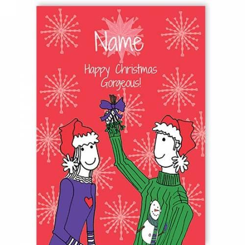 Mistletoe Happy Christmas Gorgeous Card