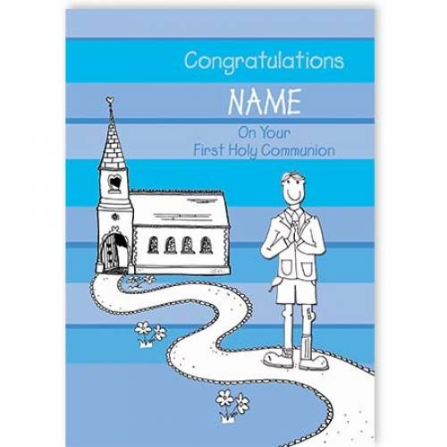 Congratulations Boy On Your First Communion Card