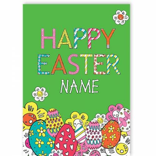 Eggs Happy Easter Card