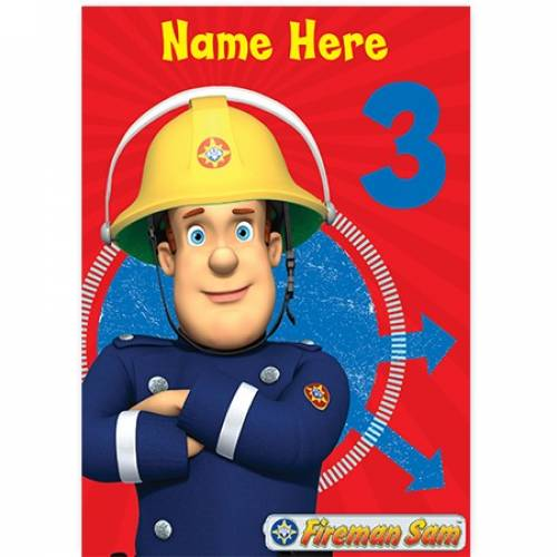 Fireman Sam Age Birthday Card