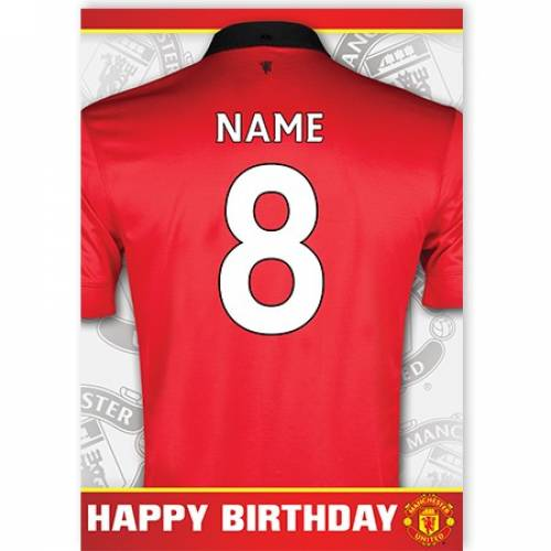 Manchester United Jersey Age Birthday Card