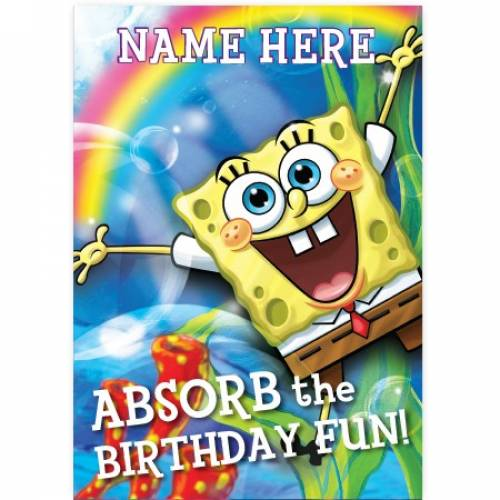 Absorb The Birthday SpongeBob Birthday Card