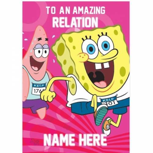 To An Amazing Name SpongeBob Card