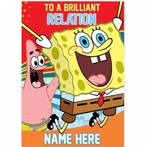 To An Brilliant Name SpongeBob Card