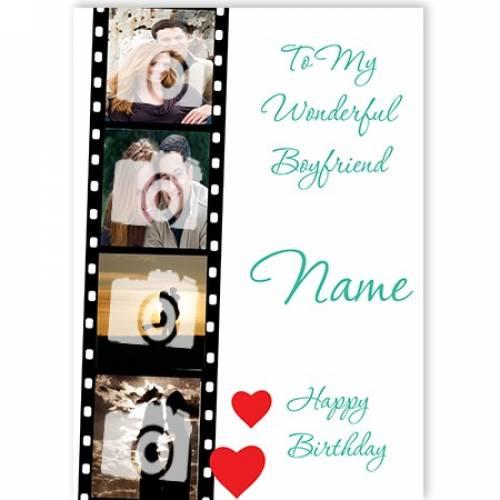 Wonderful Boyfriend Happy Birthday Card