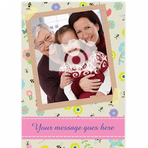 One Photo Any Message Any Occasion Floral Card