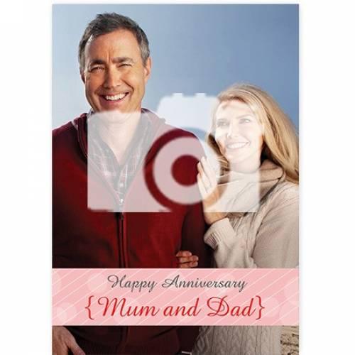 One Photo Happy Anniversary Card