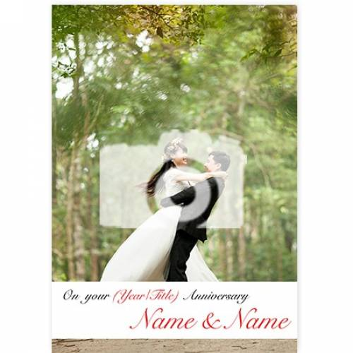 On Your Anniversary One Photo Anniversary Card
