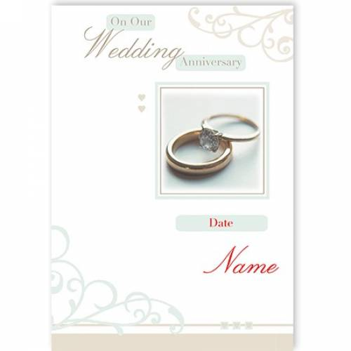 Rings Congratulations On Your Wedding Anniversary Card