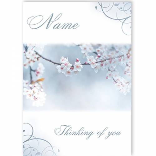 Flower Buds Thinking Of You Card