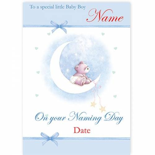 Blue Special Little Baby Boy On Your Naming Day Card