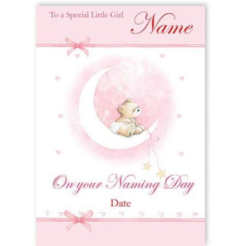 Pink Special Little Baby Girl On Your Naming Day Card