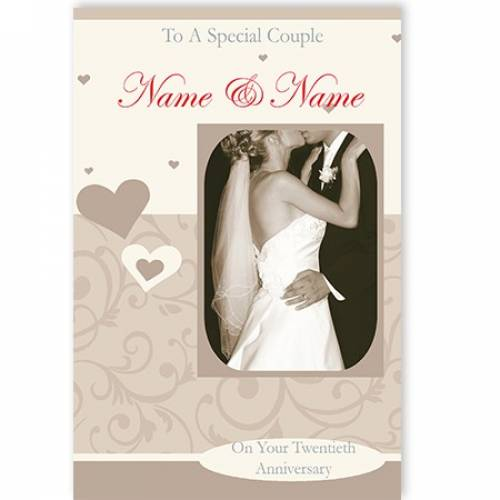 To A Special Couple On Your Twentieth Anniversary Card