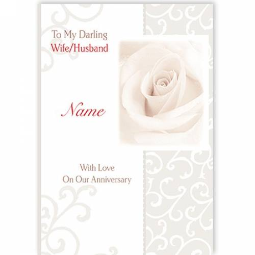 To My Darling Wife/husband On Our Anniversary Card