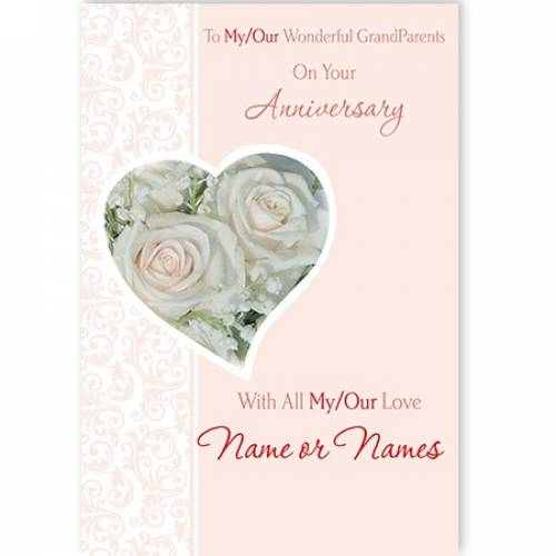 To My/our Wonderful Grandparents On Your Anniversary Card