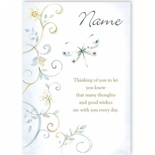 Butterfly Name Thinking Of You Card