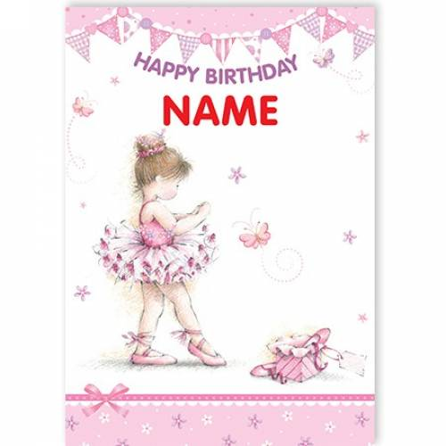 Ballerina Happy Birthday Card
