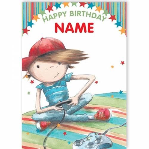 Gamer Boy Happy Birthday Card