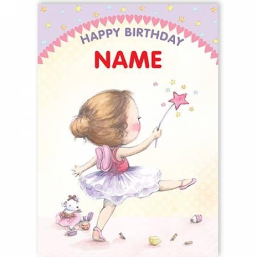 Fairy Name Happy Birthday Card