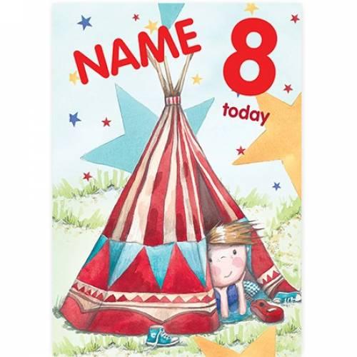 Wigwam Tent Birthday Card
