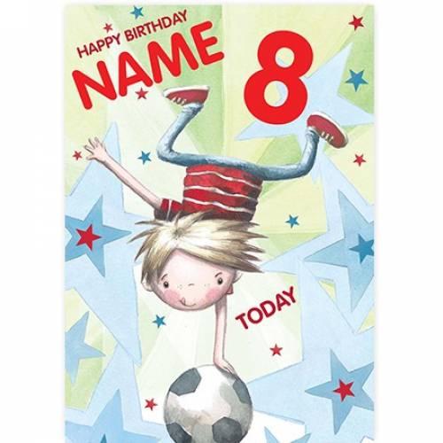 Balancing On Football Birthday Card