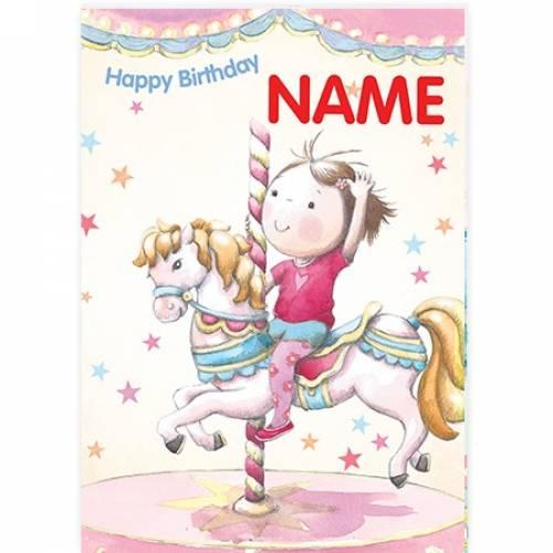 Merry Go Round Happy Birthday Card