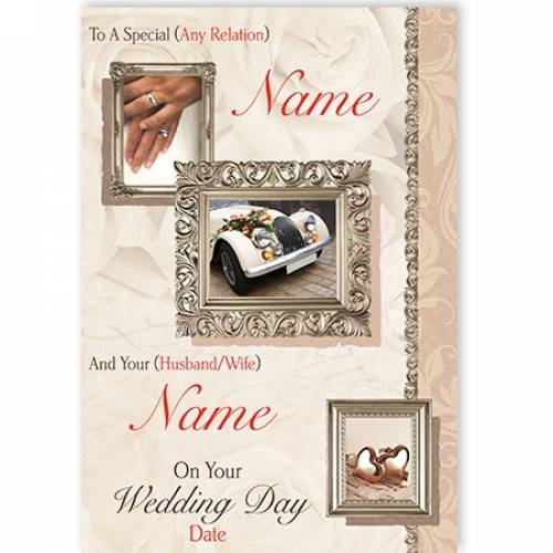 To A Special Car Wedding Card